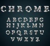 镀铬物3D字母表 向量例证