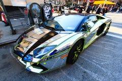 镀铬物Lamborghini 库存照片