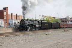 镀镍路765蒸汽机车 库存照片