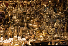 镀青铜中国纪念品 图库摄影