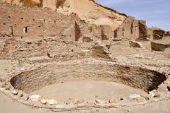 镇东方狐鲣废墟, Chaco峡谷,新墨西哥(美国) 免版税库存图片