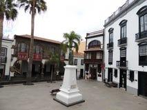 镇中心在圣克鲁斯,拉帕尔玛岛,加那利群岛,西班牙 库存图片