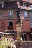 镇中心在科尔马,法国 免版税库存照片