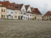 镇中心在Bardejov 图库摄影