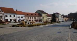 镇中心在Bechyne 免版税库存图片