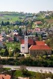 镇克拉皮纳,克罗地亚 免版税库存图片
