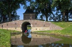 镇和水闸Boerenboom,恩克赫伊森 免版税库存照片