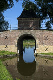 镇和水闸Boerenboom,恩克赫伊森 免版税图库摄影