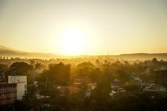 镇圣地亚哥 免版税库存图片