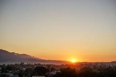 镇圣地亚哥 免版税库存照片