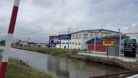 镇在圭亚那 免版税库存照片