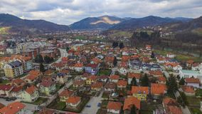 镇在波斯尼亚叫Maglaj 图库摄影