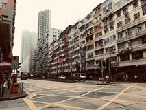 镇在香港 免版税库存图片