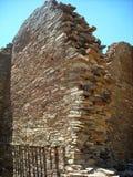 镇在Chaco峡谷,亚利桑那的东方狐鲣废墟 免版税图库摄影