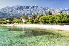 镇在Peljesac半岛的OrebiÄ ‡在南达尔马提亚,克罗地亚 库存照片
