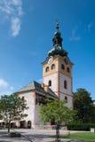 镇城堡在Banska Bystrica 免版税图库摄影