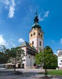 镇城堡在Banska Bystrica 免版税库存图片