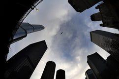 镇大厦摩天大楼都市风景 免版税库存图片