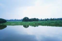 镇定的湖 免版税库存照片