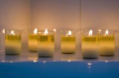 镇定的蜡烛 库存图片