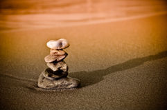 镇定的运气栈石头符号禅宗 免版税图库摄影