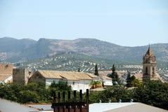 镇屋顶,卡夫拉 库存照片