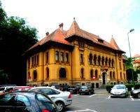 镇布拉索夫(Kronstadt), Transilvania,罗马尼亚的前香港大会堂 免版税库存图片