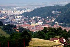 镇布拉索夫(Kronstadt), Transilvania,罗马尼亚的老部分 免版税图库摄影