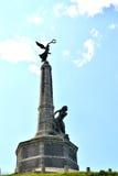 镇战争纪念建筑在阿伯斯威斯 免版税库存照片