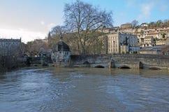 镇桥梁,雅芳河畔布拉福,英国 库存图片