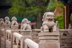 镇江椒山丁会寺庙石头桥梁 库存照片