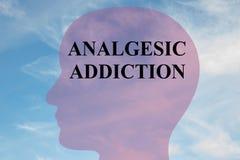 镇痛药瘾概念 向量例证
