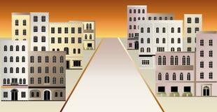 镇的例证。 免版税库存图片