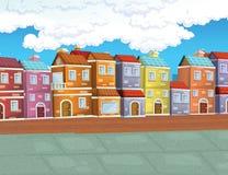 镇的动画片背景