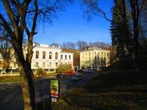 镇的日常生活, Kamenets Podolskiy,乌克兰 免版税库存图片