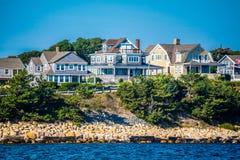 镇的海岛的俯视的看法在鳕鱼角,马萨诸塞 图库摄影