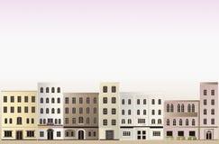 镇的背景。 免版税库存照片