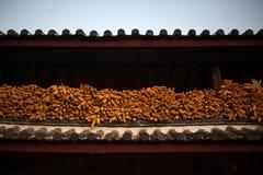 镇的角落,在丽江 免版税库存图片