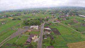 镇的风景郊外 寄生虫视图 免版税库存照片