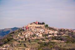 镇莫托文- Istria -克罗地亚 免版税库存照片
