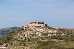 镇莫托文- Istria -克罗地亚 免版税库存图片