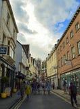 镇街道,都市风景在达翰姆,英国 免版税库存图片