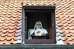 镇视图布鲁基(比利时) 免版税图库摄影
