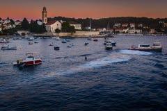 镇赫瓦尔岛在克罗地亚 免版税库存照片