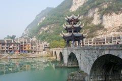 镇远古镇在贵州中国 免版税库存图片
