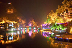 镇远古镇在贵州中国 免版税库存照片