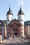 镇门在海得尔堡在德国 免版税库存图片