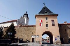 镇门在Levoca 免版税库存照片