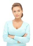 镇静和友好的妇女 免版税库存图片