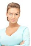 镇静和友好的妇女 免版税库存照片